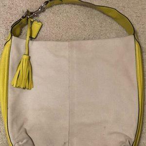 Coach handbag Leather and Canvas 💃🥰